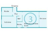 Bild 1: Appartement 3 Haus Isabel an der Nordsee Büsum