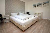 Die Betten lassen sich zu einem Ehebett zusammen schieben. - Bild 4: Am Apfelgarten in Lüneburg, Ferienhaus