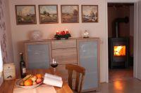 Beim knistern des Holzofens den Winteraben genießen. - Bild 7: Ferienwohnung - Bühner, die Ferienwohnung in der hohen Rhön