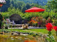 Garten mit Grillecke - Bild 10: Kinderfreundliche Ferienwohnungen Landhaus Jörg im Allgäu - Familienwohnung