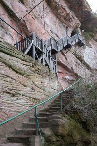Aufgang zur Ruine Falkenstein - Bild 16: Ferienwohnung Waldschrat im Pfälzer Wald
