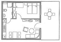 Wohnfläche: 43m² Personenanzahl: 2 (Aufbettung auf Anfrage ist möglich. - Bild 4: Erholung am Wasser - Ostseehalbinsel Darss mit Hund - Angeln