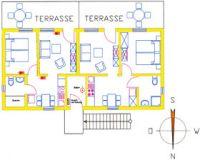 Wohnfläche: 34 m² Personen: 2 - Bild 4: Darssurlaub - Wassergrundstück mit Hund - eingezäunter Terrasse, Angeln