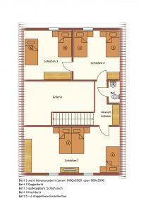 Grundriss Obergeschoss Ferienhaus Stift Ennenbach - Bild 19: Stift Ennenbach - idyllisch gelegenes Ferienhaus