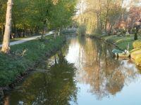 Diese schöne Aussicht haben Sie von der Ferienwohnung. - Bild 4: Haus am Fluß, Garten, Nordseenähe, gerne Familien,Paare,Singles, Hunde