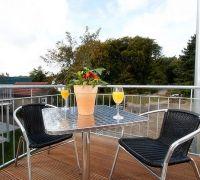 Balkon Ferienwohnung Haus Möwe Nr. 8 - Bild 7: Exsklusive Ferienwohnung in Sellin nur 300 m zum Strand und Seebrücke