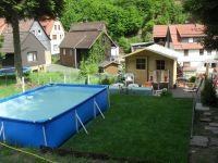 mit Pool + Gartenhuas + Terrasse mit 2 x Grill - Bild 4: Haus am Bergflüsschen - Whirlwanne - Garten - Pool - Sauna - Alleinnutzung