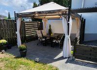 Garten mit Terasse und Pavillon - Bild 10: Ferienwohnungen Ute Reinert - FeWo 1 (60 m²)