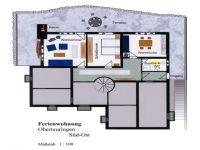 Ferienwohnungsaufteilung und Terrassenplatz - Bild 1: Ferienwohnung Haus Speck, nähe Bodensee