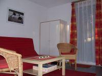 Wohnzimmer mit Schlafcouch - Bild 1: Ferienhaus im Birkenhof Steinölsa