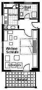 Ihre Wohnung befindet sich im Erdgeschoss eines 1993 fertiggestellten Neubaus. Wohnfläche: 37m˛ - Bild 1: Ferienwohnung Pfau in Immenstaad am Bodensee