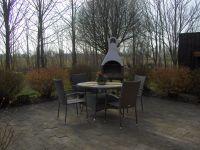 mit Möbeln und Grillkamin - Bild 13: Ländliche Fewo nahe der Nordsee, ideal für Umgebungsausflüge