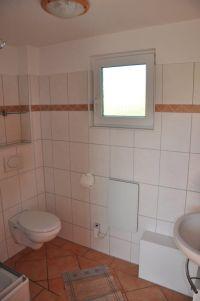 Badezimmer mit WC und Duschkabine - Bild 4: Ferienhaus Wiebers am Hohenfelder Ostseestrand ( 150 m )