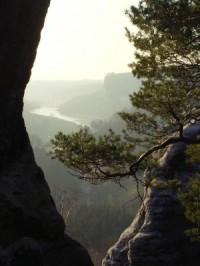 Blick vom Gamrig ins Elbtal - Bild 10: Ferienwohnung in Bad Schandau Elbsandsteingebirge